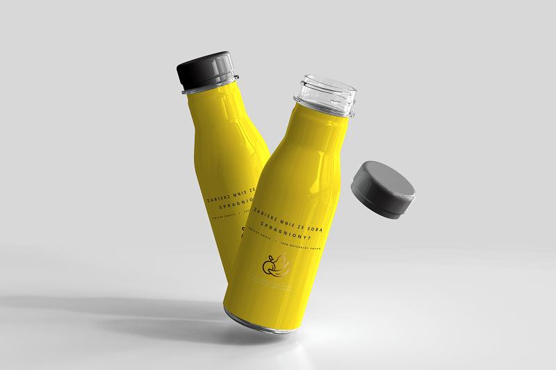 Butelka także może być materiałem reklamowym